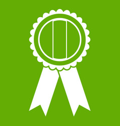 rosette icon green vector image