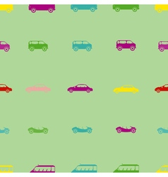 Seamless background with car vector