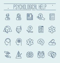 Set symbols of psychological help vector