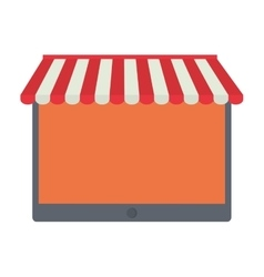 Shopping online tablet order service vector