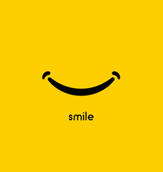 smile icon graphic design symbol or logo vector image