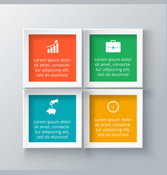 Squares for infographic vector