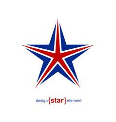 star - design element with united kingdom flag vector image