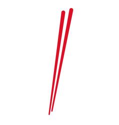 Stick wooden food japanese utensil vector