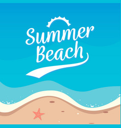 summer beach holiday background design top view vector image
