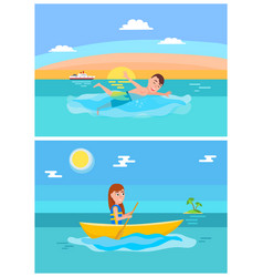 summer lifestyle collection vector image