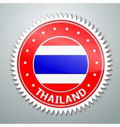Thai flag label vector image