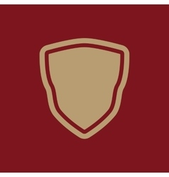 The shield icon Shield symbol Flat vector image