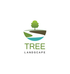 Tree landscape logo vector