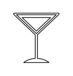 Tropical cocktail cup icon vector