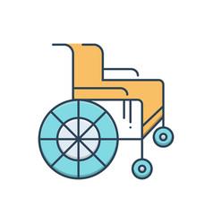 Wheel chair vector