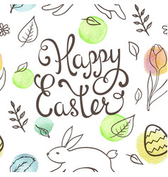 Hand drawn doodle easter pattern vector