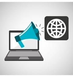 marketing digital globe concept vector image vector image