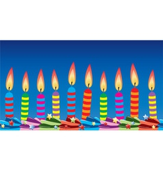 row of birthday candles vector image vector image