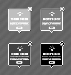 Tooltip Bubble vector image vector image