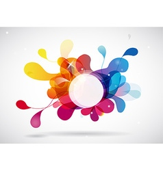 Abstract colored background with circle vector image vector image
