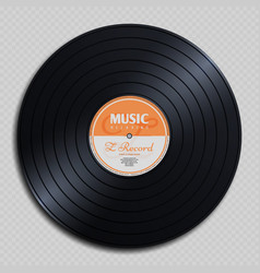 audio analogue record vinyl vintage disc isolated vector image