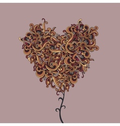 background with abstract Heart curls vector image