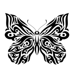 Butterfly in tribal design vector image vector image
