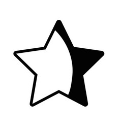 contour rating star symbol and element status vector image vector image