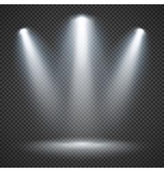 Scene illumination with bright lighting of vector image