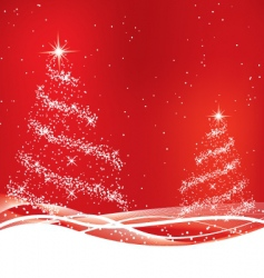 two red Christmas tree vector image vector image