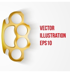 Background of Metal Brassknuckles vector image vector image