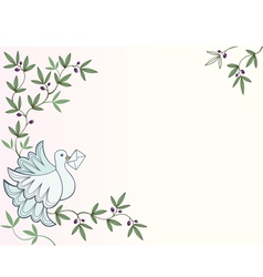 Dove with letter thumb vector image