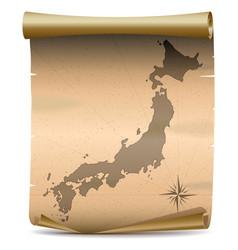 Japan Vintage Map vector image