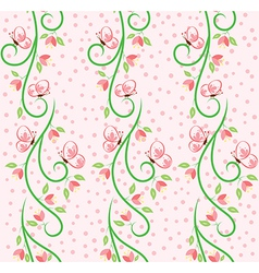 Swirl Nature Butterfly Pattern 1 vector image vector image
