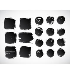 Brushstroke banners Ink spot backgrounds vector image vector image