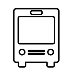 Bus line icon navigation and transport sign vector