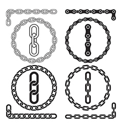 Chain icons parts circles of chains vector image vector image