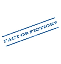 Fact or fiction question watermark stamp vector