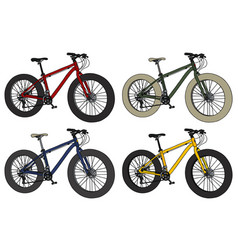 four color fatbikes vector image vector image