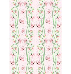 Swirl Nature Butterfly Pattern 2 vector image vector image