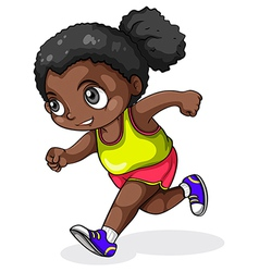 A black girl running vector image