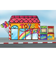 A toy shop vector image