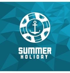 Anchor summer holiday vacation icon vector