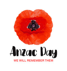 Anzac day card we will remember them vector