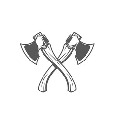 axes isolated on white background vector image