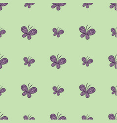 beautiful butterfly seamless pattern vector image