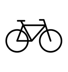 bicycle line icon navigation and transport sign vector image