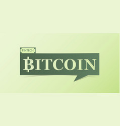 bitcoin banner isolated on light green background vector image