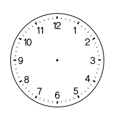 Blank wall clock face on white background vector
