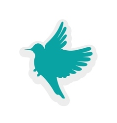 Blue bird sticker Animal icon graphic vector