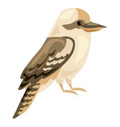 brown bird icon cartoon style vector image