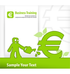 Business euro vector