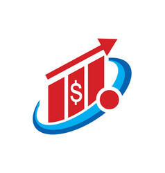 Business finance money arrow logo vector
