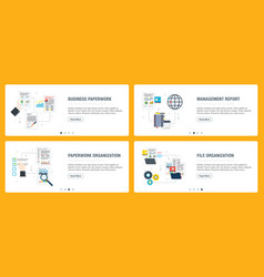 business paperwork organization review and data vector image